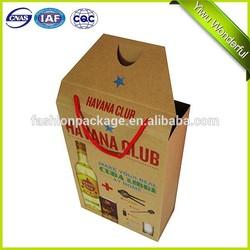 2015 hot sale brown kraft paper wine bag