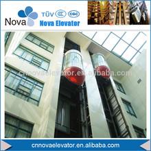 Outdoor Elevator, Panoramic Hydraulic Elevator/ Tempered Glass Panoramic Lift