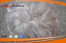 New style natural curly 8inch men's toupee for elder man cheap wig