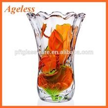 long glass vase/cylinder glass vase/tall cylinder clear glass vase