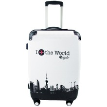 Hardshell trolley China factory direct sale abs printed hard shell luggage