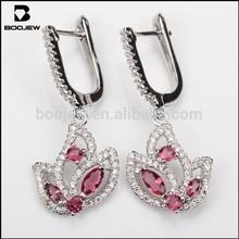 newest design diamond earring, silver earrings