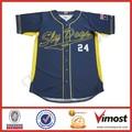 De alta calidad 100% de poliéster de camisa de béisbol/hombres uniforme de béisbol/camo sublimada camiseta de béisbol