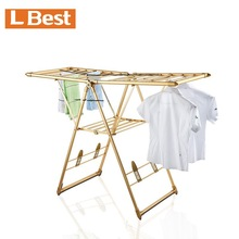 Powder Coating Steel Tube Retractable Clothes Rack Fold Away Towel Hanger Foldable