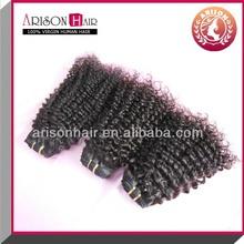 Fashion black women kinky curly indian human hair, 100% virgin raw unprocesse virgin indian hair weaving