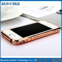 Diamand Inlay Alloy Bumper Frame for iPhone 6 , diamond phone case
