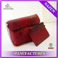 whoelsale snake skin leather shoulder bag, custom snake skin leather shoulder bag for sale