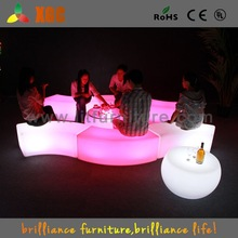 Factory direct price led bench stool with multi color outdoor bench chair