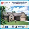 la construction rapide de la structure en acier préfabriqué maison villa toit plat