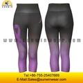 La sublimación de las señoras sexy ajustados pantalones de yoga/personalizado sin costuras polainas flaco