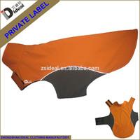 Customized orange nylon polar fleece waterproof reversible dog coat