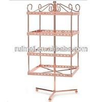 Revolving 3 Tiers Metal Jewelry Display Shelves