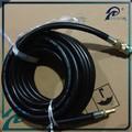 4FT fiber tressé noir caoutchouc long machine à laver vidange tuyau en caoutchouc du tuyau de