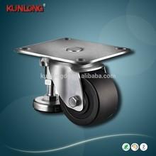 SK6-Z6597P Black Rubber Wheel Caster Wheel Swivel or Fixed