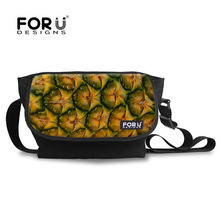 B005N4 Pineapple Picture On Stylish Side Bags For Teens For School