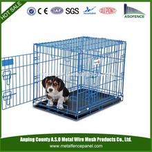 China wholesale foldable stainless steel dog cage / wire folding pet crate dog cage / folding dog cage
