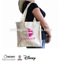 Brand New Cotton Shopping Shoulder Tote Bag Natural Canvas Long Handled