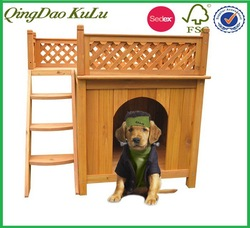 Wood Room water proof kennel with a View,outdoor wooden dog kennel