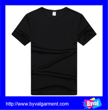 Wholesale 100% polyester black dry fit function sport man t-shirt