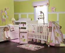 Latest baby bedding set Monkey Six Piece Crib bedding Set