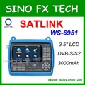 Hd dvb-s2 satélite finder satlink ws-6951 satfinder 3.5 medidor do lcd