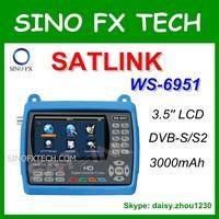 HD DVB-S2 satellite finder satlink ws-6951 satfinder meter 3.5 inch LCD