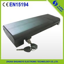 lithium battery 36v 10ah lithium e bike battery with Aluminum Bottle Case+Charger,SY-BAT-105