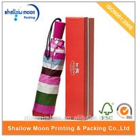 wholesale promotional custom design umbrella packaging box