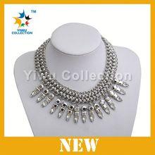 Hot sale alloy statement necklace,wholesale dubai gold jewelry buyers,rhinestone choker necklace