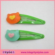 Wholesale cute baby hair accessories for girls baby hair clips with lovely bear