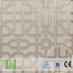Light color bamboo lattice vinyl wallpaper wholesale