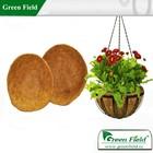 Green Field coconut coir basket liners, outdoor coir fiber hanging basket liner