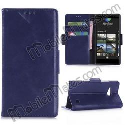 Oil Buffed Wallet Case for Nokia Lumia 735, Magnetic Flip PC+PU Leather Case for Nokia Lumia 735
