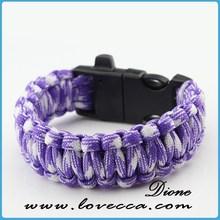 Factory direct survival paracord bracelet pattern climbing paracord braiding bracelets