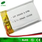 332430 lithium polymer battery 3.7v 180mah li-ion battery cell