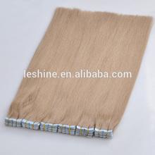 Hot! 2015 Wholesale Alibaba Hot Selling brazilian hair tape in extension pre bonded skin tape hair
