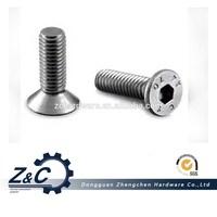 DIN7991 hex socket flat head cap screw/stainless steel 18-8flat head cap screws