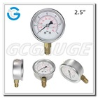 High quality 2.5 inch 63 mm bourdon type glycerine or silicone oil pressure gauge