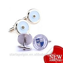 New Custom Enamel Cufflinks Metal Men Accessories