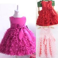 2015 Girls Kids One Piece Dress Tutu Winter 3 Years Old Girl Dress SV000588