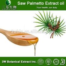 Pharmaceutical Grade Serenoa repens fruit Extract oil ,Saw Palmetto Oil 85%,90% GC