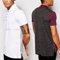 moda fecho lateral aberta de marcas de camisa gola polo t dos homens camisa