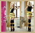 atacado de moda senhoras mini carnaval vestidos sexy trajes da abelha