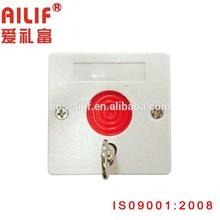 White Key Reset Emergency Push Button Switch(ALF-EB02-1)
