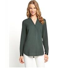 New design women trim detail chiffon blouse