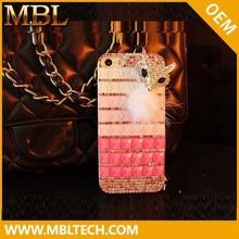 Wholesale luxury fur+diamond case for iphone 6, for iphone 6 4.7inch cell phone diamond case with competetive price