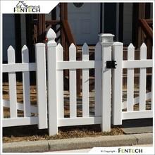 FENTECH PVC Picket Garden Fence, Plastic Fence