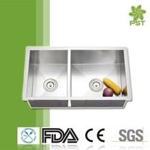 Kitchen Undermount Stainless Steel Franke Sink,Double Bowl Sink,Undermount Sink 254mm Depth