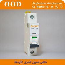 CNC DZ47-63 MCB Circuit breaker 4p 100a 440vac plastic
