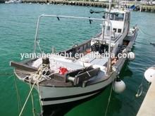 Japan used fiberglass diesel engine fishing boat cheap
